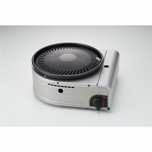 イワタニ CB-SLG-2 カセットガス スモークレス 焼肉グリル 「やきまるII」 カセットフー シルバー・ブラック