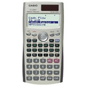 CASIO 電卓 フルドット4行表示で一覧性もバツグン FC200VN