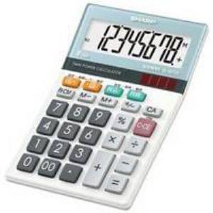 シャープ EL-M720-X グラストップデザイン電卓 8桁