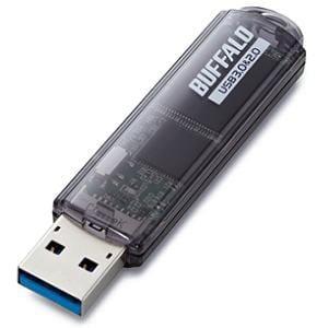BUFFALO USBメモリ USB3.0対応「ライトプロテクト機能」搭載モデル RUF3-C64GA-BK