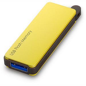 BUFFALO オートリターン機構搭載 USB3.0対応USBメモリー RUF3-PW32G-YE
