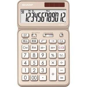 シャープ 卓上電卓 12桁 50周年記念モデル シャンパンゴールド EL-VN82-NX