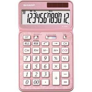 シャープ 卓上電卓 12桁 50周年記念モデル ピンク EL-VN82-PX