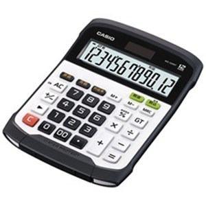 カシオ 防水防塵電卓 12桁 ブラック&ホワイト WD-320MT-N