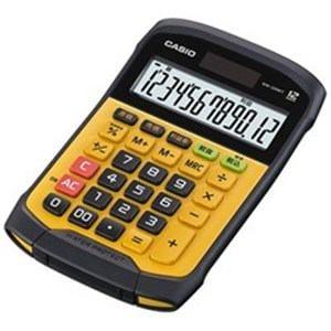 カシオ 防水防塵電卓 12桁 ブラック&イエロー WM-320MT-N