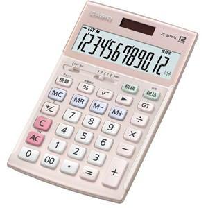 カシオ 本格実務電卓 12桁(ピンク) JS-20WK-PK