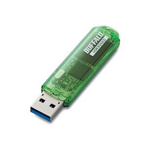 バッファロー バッファローツールズ対応USB3.0用USBメモリースタンダードモデル 64GB グリーンモデル RUF3-C64GA-GR