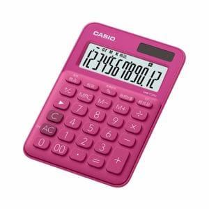 カシオ MW-C20C-RD-N カラフル電卓(12桁) ビビッドピンク