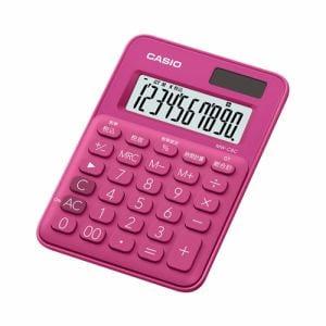 カシオ MW-C8C-RD-N カラフル電卓(10桁) ビビッドピンク