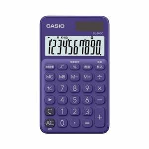 カシオ SL-300C-PL-N カラフル電卓(10桁) パープル