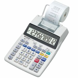 Office Sharp El-1750v Electronic Printing Calculator Office Equipment