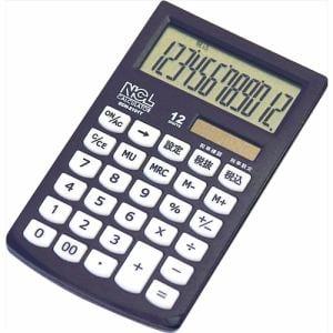 ナカバヤシ ECH-2101T-D 電卓 ハンディータイプ モノカラーブラック