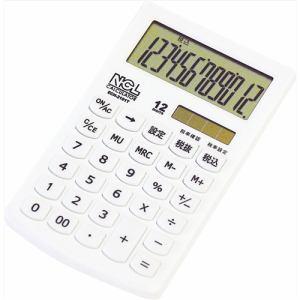 ナカバヤシ ECH-2101T-W 電卓 ハンディータイプ モノカラーホワイト