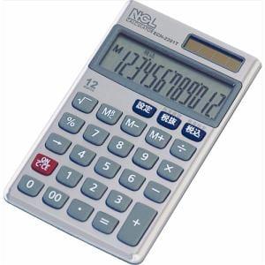 ナカバヤシ ECH-2201T 電卓 ハンディータイプ ケース付き メタル