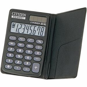 シチズン DE8001Q 手帳型電卓 8桁