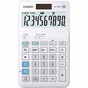 カシオ JW-100TC-N W税率電卓 10桁