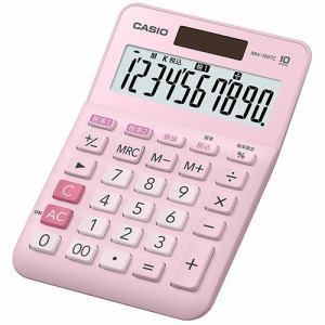 カシオ MW-100TC-PK-N W税率電卓 10桁 ピンク
