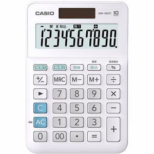 カシオ MW-100TCWE-N W税率電卓 10桁 ホワイト