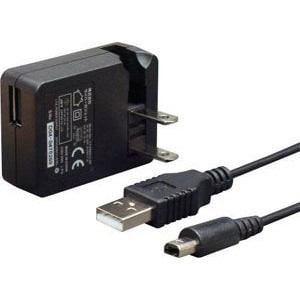 サイバーガジェット 【3DS】 CYBER・USB ACアダプター ミニ 3m CY-3DSUSAD3M-BK