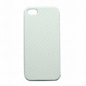 オウルテック iPhone 5専用 カーボンレザーケース ホワイト OWL-CVIP20(WH)
