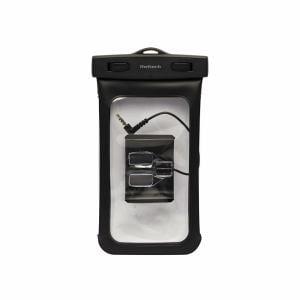 オウルテック iPhone/スマートフォン対応 アームバンド&防水仕様イヤホン付属 防水ソフトケース ブラック OWL-MAWP04(BK)