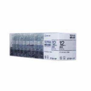 キングジム ST12K-10P テプラPROテープカートリッジ 12mm 10個セット 透明ラベル
