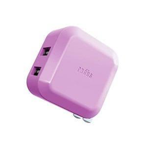 radius 2ポート USBアダプター バイオレット RK-ADA02V
