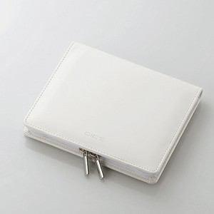 エレコム 電子辞書ケース 外国辞書デザイン フルカバータイプ ファスナー付 ホワイト DJC-022WH