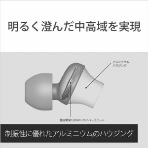 ソニー MDR-EX450AP-H 密閉型インナーイヤーレシーバー クロムグレー