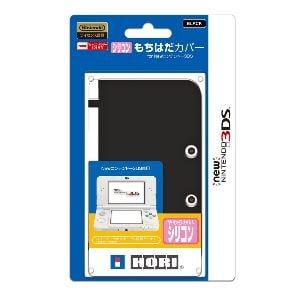 ホリ シリコンもちはだカバー for Newニンテンドー3DS ブラック 3DS-220