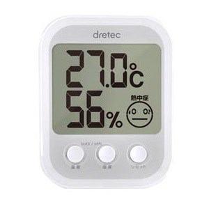 ドリテック デジタル温湿度計「オプシスプラス」 ホワイト O-251WT