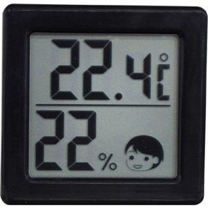 ドリテック 小さいデジタル温湿度計 ブラック O-257BK