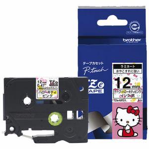 ブラザー ラミネートテープ(ハローキティキャラクター) ハローキティピンク TZe-HP31