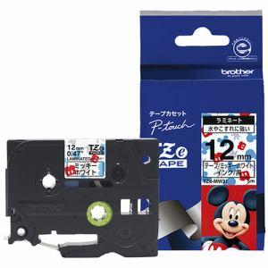ブラザー ラミネートテープ(キャラクター) ミッキーホワイト TZe-MW31