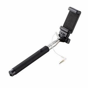 エレコム iPhone6/iPhone6Puls/5s/5c/5専用 自撮り棒 有線接続タイプ ブラック P-SSY01BK