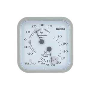 タニタ 温湿度計(グレー) TT-557-GY