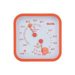 タニタ 温湿度計(オレンジ) TT-557-OR