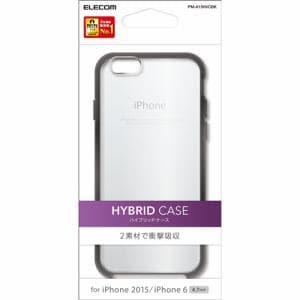エレコム PM-A15HVCBK iPhone 6s用ハイブリッドケース クリア×ブラック