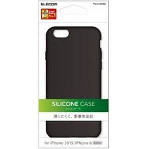 エレコム PM-A15SCBK iPhone 6s / 6用シリコンケース ブラック