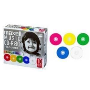 マクセル CDRA80MIXS1P10S 音楽用CD-R 80分 10枚パック