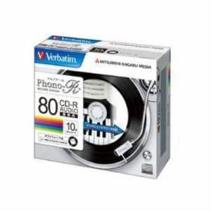 三菱ケミカルメディア MUR80PHW10V1 録音用CD-R(Phono-R)/24倍速対応/10枚