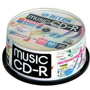 RiDATA CD-RMU80.30SPB 音楽用CD-R 30枚入