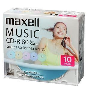 maxell 音楽用CD-R 80分 カラープリンタブル 10枚ケース CDRA80PSM10S