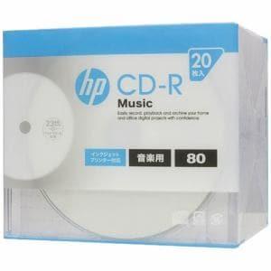 ヒューレットパッカード CDRA80CHPW20A 音楽用CD-R インクジェットプリンター対応ホワイトワイドレーベル 1-32倍速 20枚