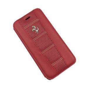 エアージェイ Ferrari(フェラーリ)公式ライセンス商品 iPhone6/6s専用本革手帳型ケース レッド FE458PFLBKP6REB