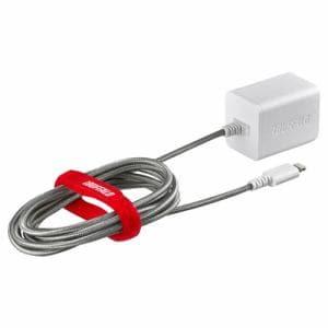 バッファロー BSMPA2403LC2WH 2.4A USB急速充電器 Lightningケーブル一体型タイプ 2.5m ホワイト