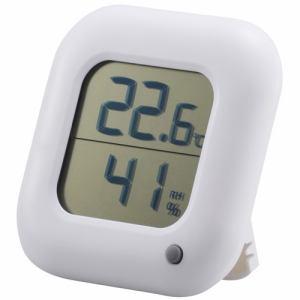 オーム電機 TEM-100-W デジタル温湿度計 白