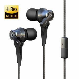 ラディウス HP-NHA21K 【ハイレゾ音源対応】マイク付 カナル型イヤホン (ブラック)