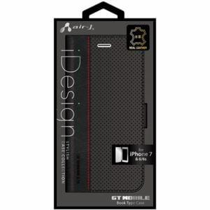 エアージェイ(air-J) iPhone7/6/6s専用GT MOBILE本革手帳型ケース AC-P7-GT1