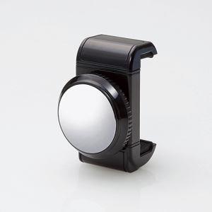 エレコム P-SMMBK スマートフォン用ホルダーミラー付き ブラック